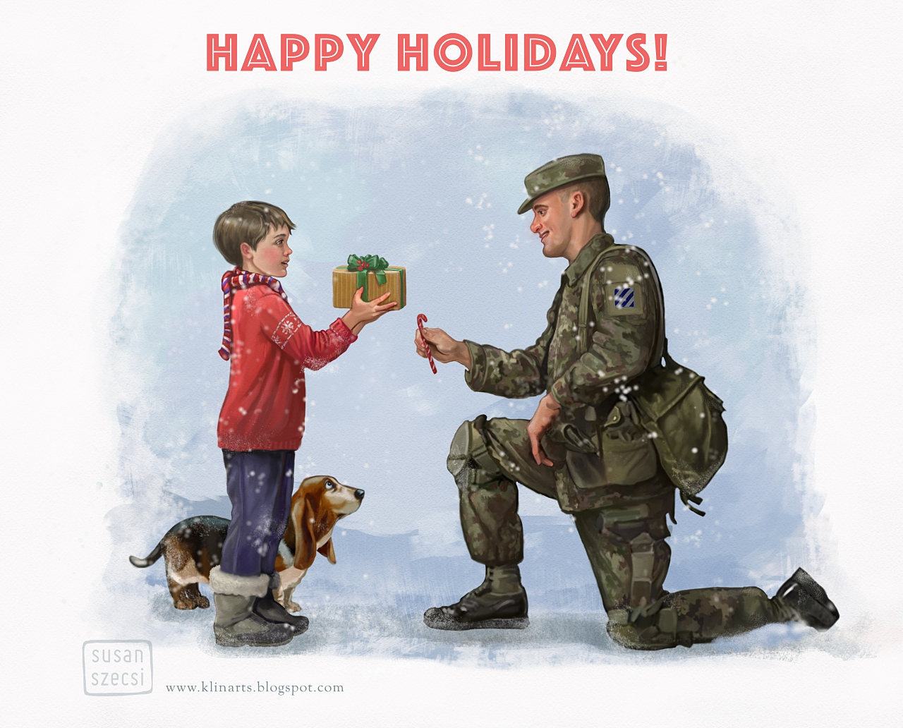klinarts: Hommage to Norman Rockwell and Happy Holidays!