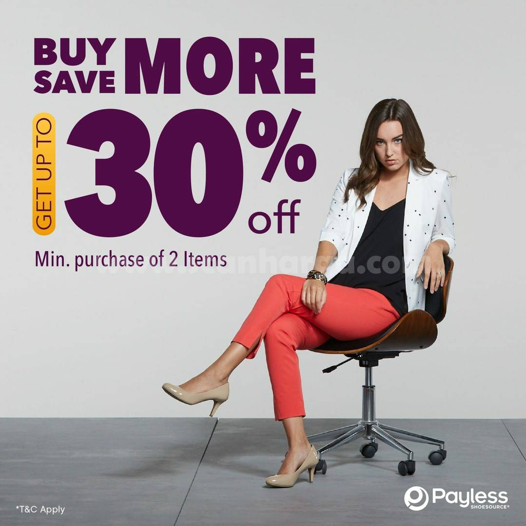 Promo Payless Buy More Save Discount Up To 30% Off