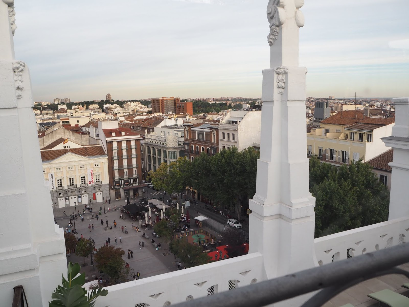 rooftop terrace views from ME Madrid