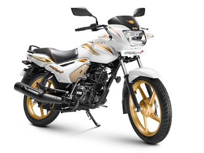 TVS Star City Plus 110cc white gold edition