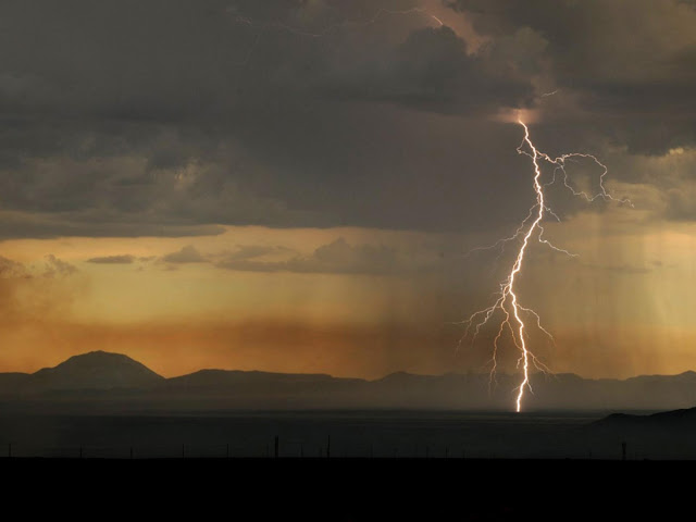 Lightning over New Mexico