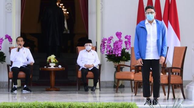 Tampil Saat Ditunjuk Jadi Menteri, Sandiaga Uno Sudah Sembuh dari Covid-19?