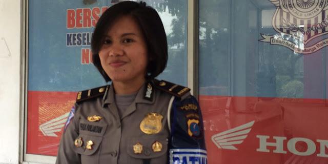 Inilah Sosok Polwan Ipda Perinda yang Diancam Siswi SMA yang Mengaku Anak Arman Depari