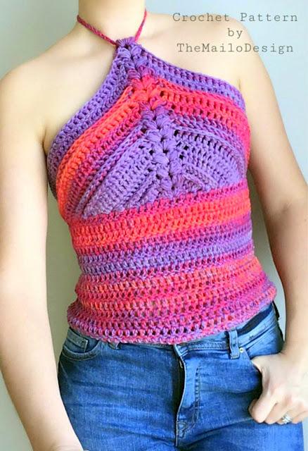 tank top sleeveless shirt crochet pattern