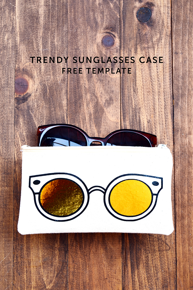 gold silhouette trendy sunglasses case hipster