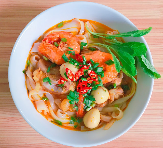 Asian prawn noodles recipe
