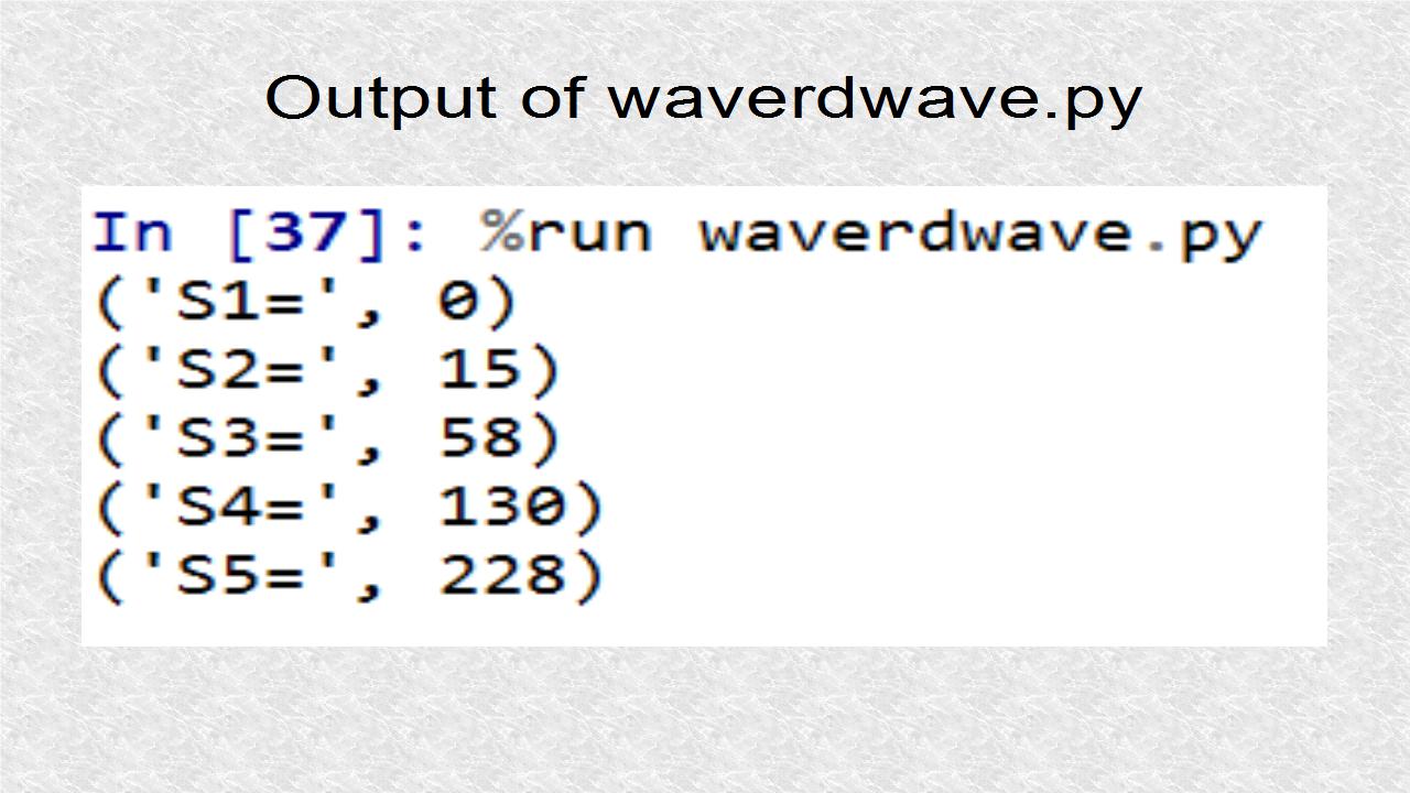 Audio Programming In Python: 3  Reading a Wave File