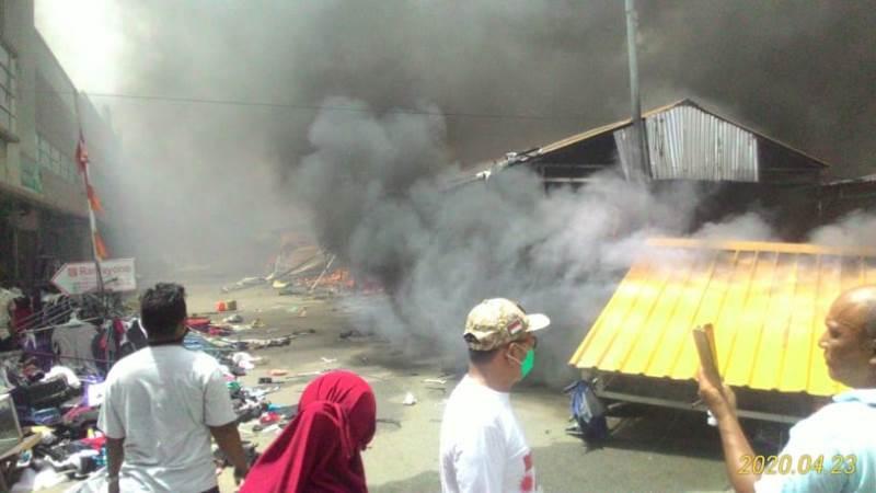 Pasar Barang Seken Taras Mall Batam Center Kebakaran