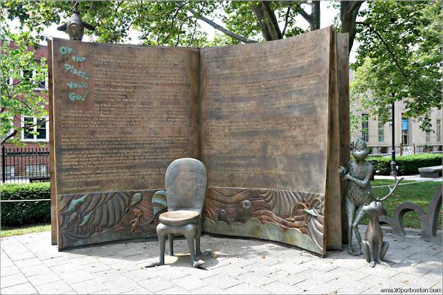 Esculturas del Dr. Seuss National Memorial Sculpture Garden en Springfield, Massachusetts
