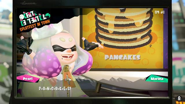 Splatoon 2 Splatfest Pancakes vs. Waffles Pearl P-A-N-C-A-K-E-S zoom-in