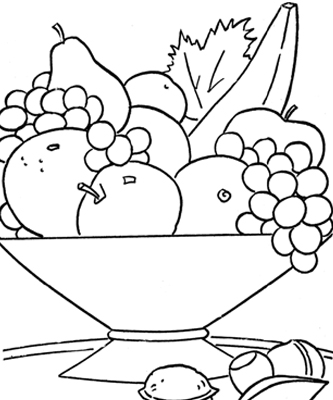 Printable food coloring pages colouring for kids for Food coloring pages to print