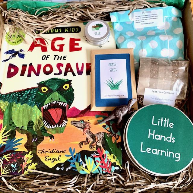 Little Hands Learning dinosaur subscription box