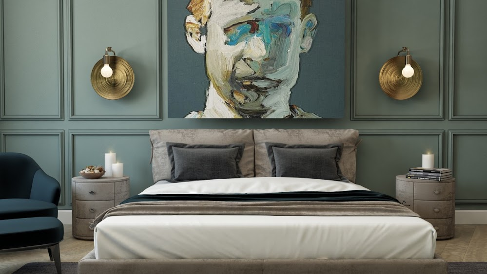 painted-face-abstract-gold-sconces-accent-wall-panels