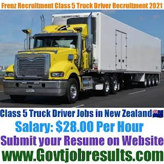 Frenz Recruitment Class 5 Truck Driver Recruitment 2021-22