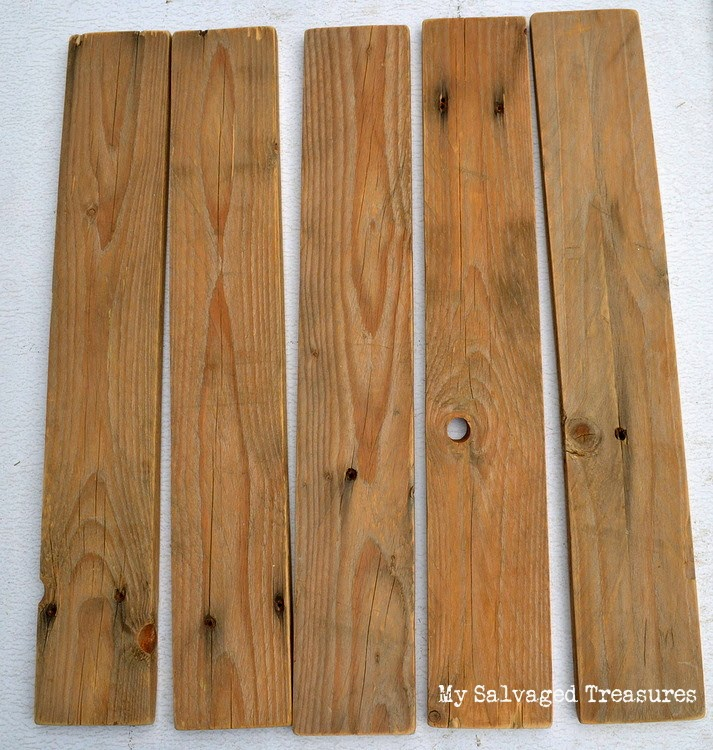upcycled pallet boards