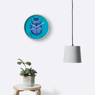 blue beetle bug clock