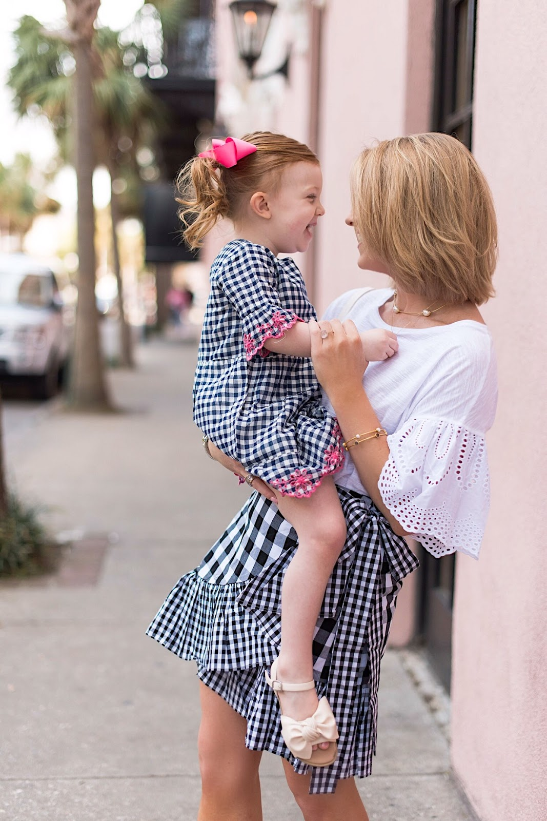 Twinning in Gingham in Charleston, SC. - Something Delightful Blog