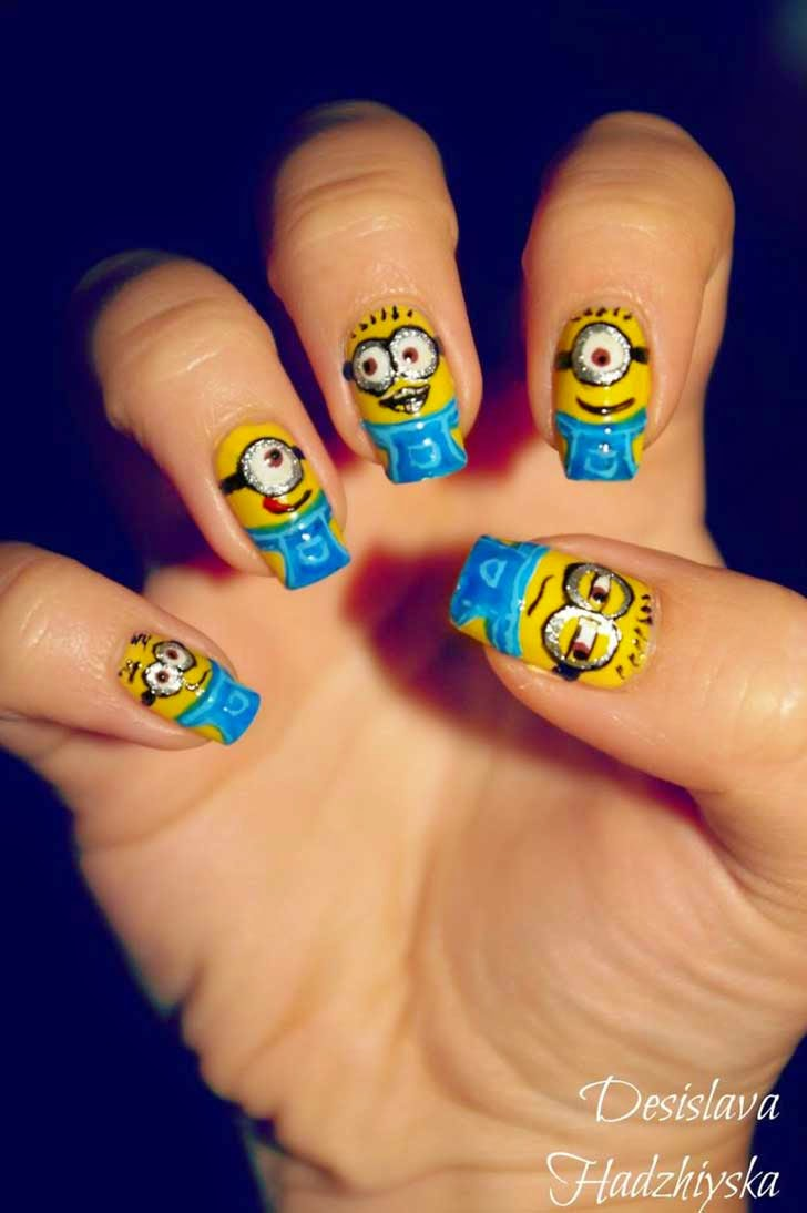 Diseños de uñas al estilo Película de Minions - Nails minions style