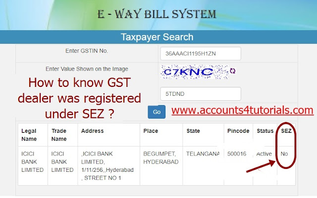 sez gst details, how to check sez gst, sez registration under gst, sez status in gst, e way bill in sez, sez dealer in gst, sez full form