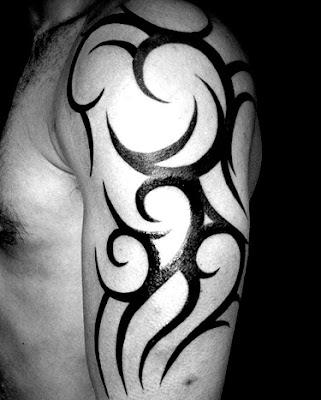 Tato Tribal Lengan Warna : tribal, lengan, warna, Tribal, Melingkar, Terbaru, Terlengkap