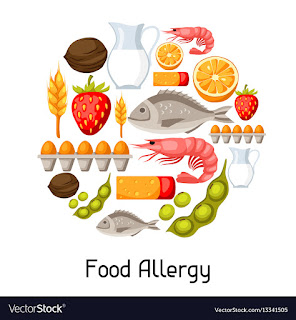 food allergy via vectorstock.com