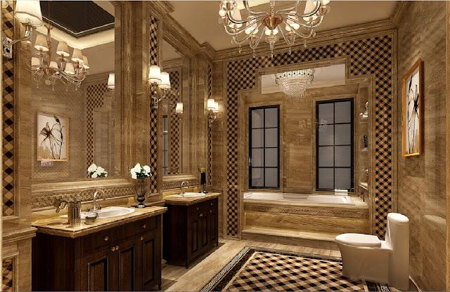 تصاميم حمامات قصور