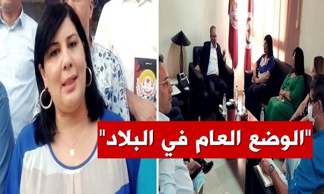 نورالدين الطبوبي - عبير موسي - UGTT - PDL-  Noureddine Taboubi - Abir Moussi