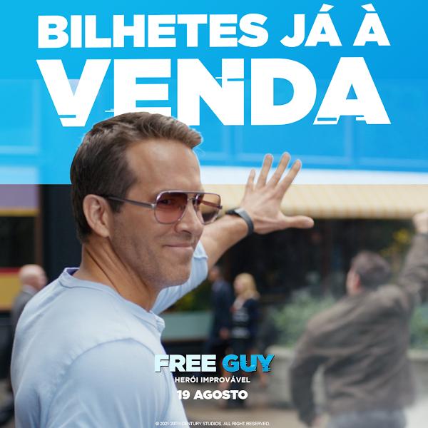 FREE GUY: HERÓI IMPROVÁVEL - BILHETES JÁ À VENDA - NOS CINEMAS A 19 DE AGOSTO