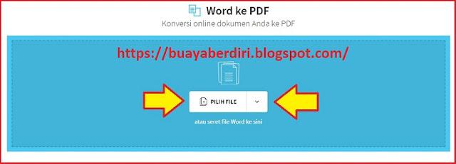 Mengubah Word ke PDF di Small PDF
