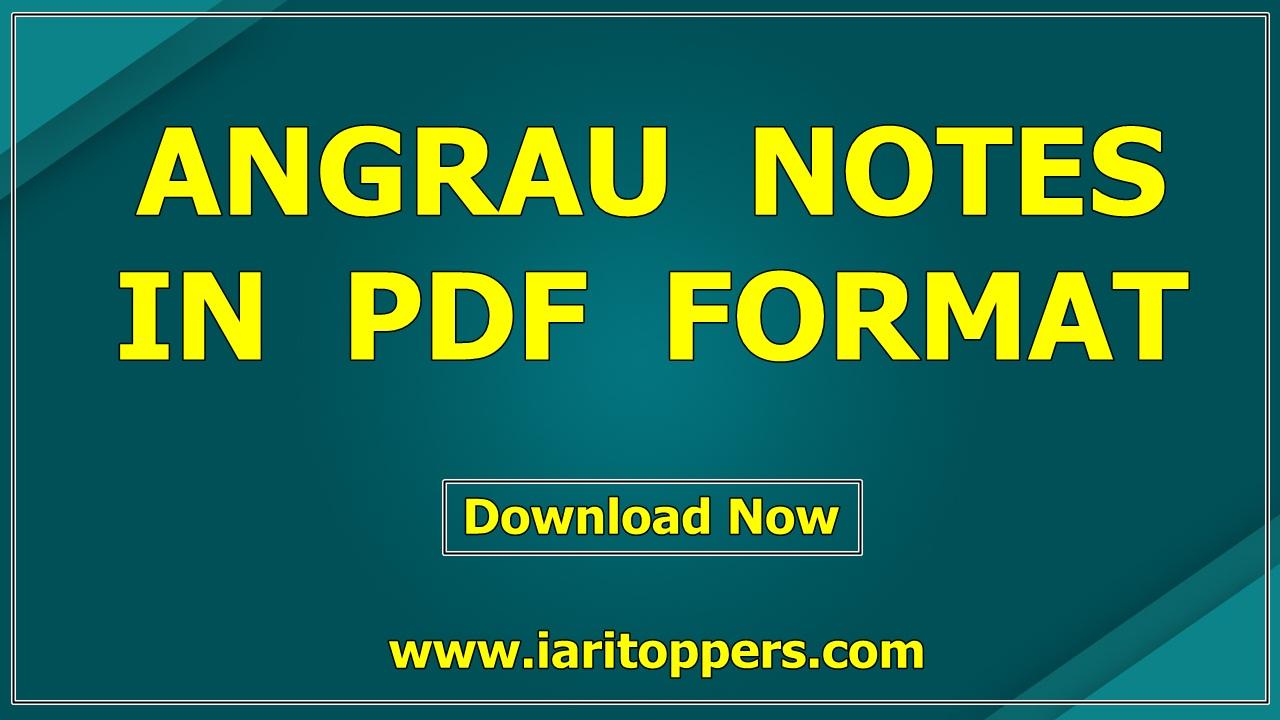 angrau notes pdf download