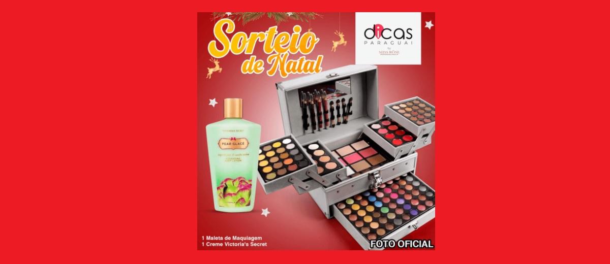 Sorteio de Natal 2020 Concorra Maleta Maquiagem e Creme Victoria's Secret
