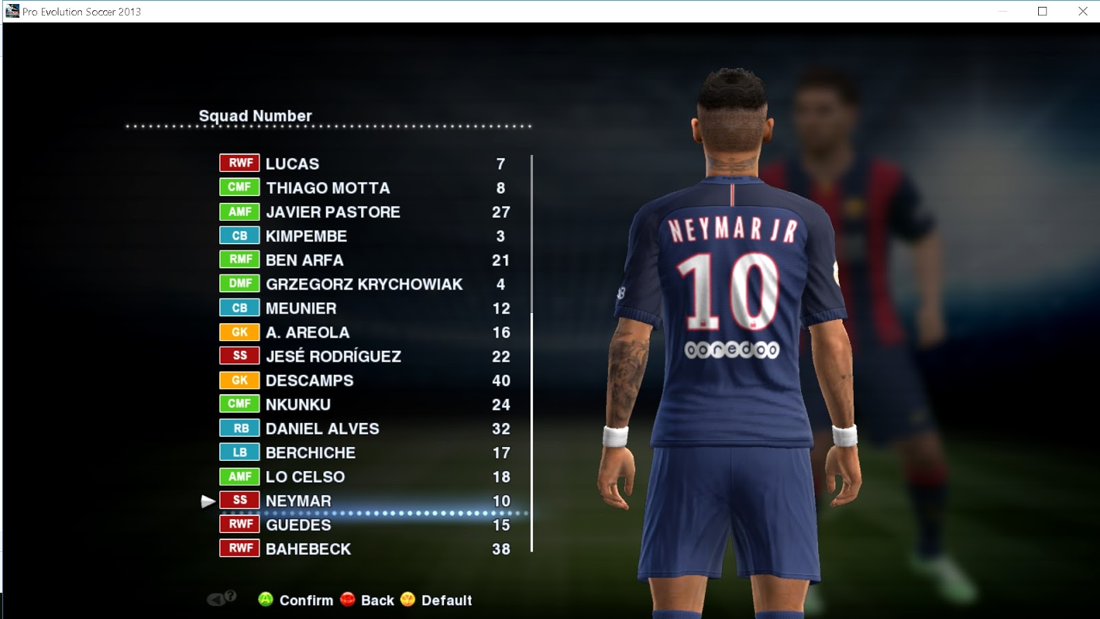 PES Update: PES 2013 Option File 13/09/2017 + Update Stats By Boris