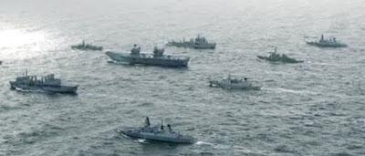 আলজিরিয়ার নৌ বাহিনীর সাথে ভারতীয় নৌ বাহিনীর মহড়া