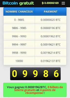 Application pour gagner 10 dollars en Bitcoin gratuitement chaque jours