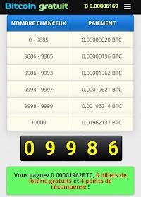 Application pour gagner des dollars en Bitcoin gratuitement chaque jours