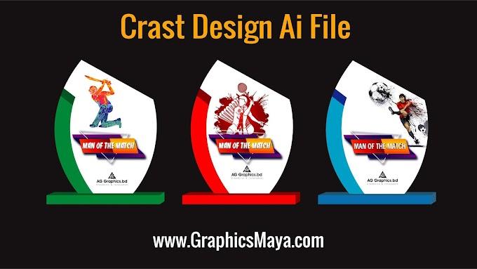 Man of the Mach Crest Design Template Vector (Football, Cricket, Badminton)