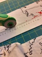 go along the ruler with a rotary cutter