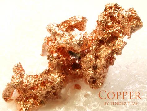 自然銅 Native copper Caledonia Mine,Ontonagon Co., MI 自然銅