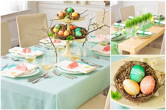 Stół wielkanocny, dekoracje na święta, dekoracje wielkanocne, Wielkanoc, przygotowania do Wielkanocy, przygotowania do świąt