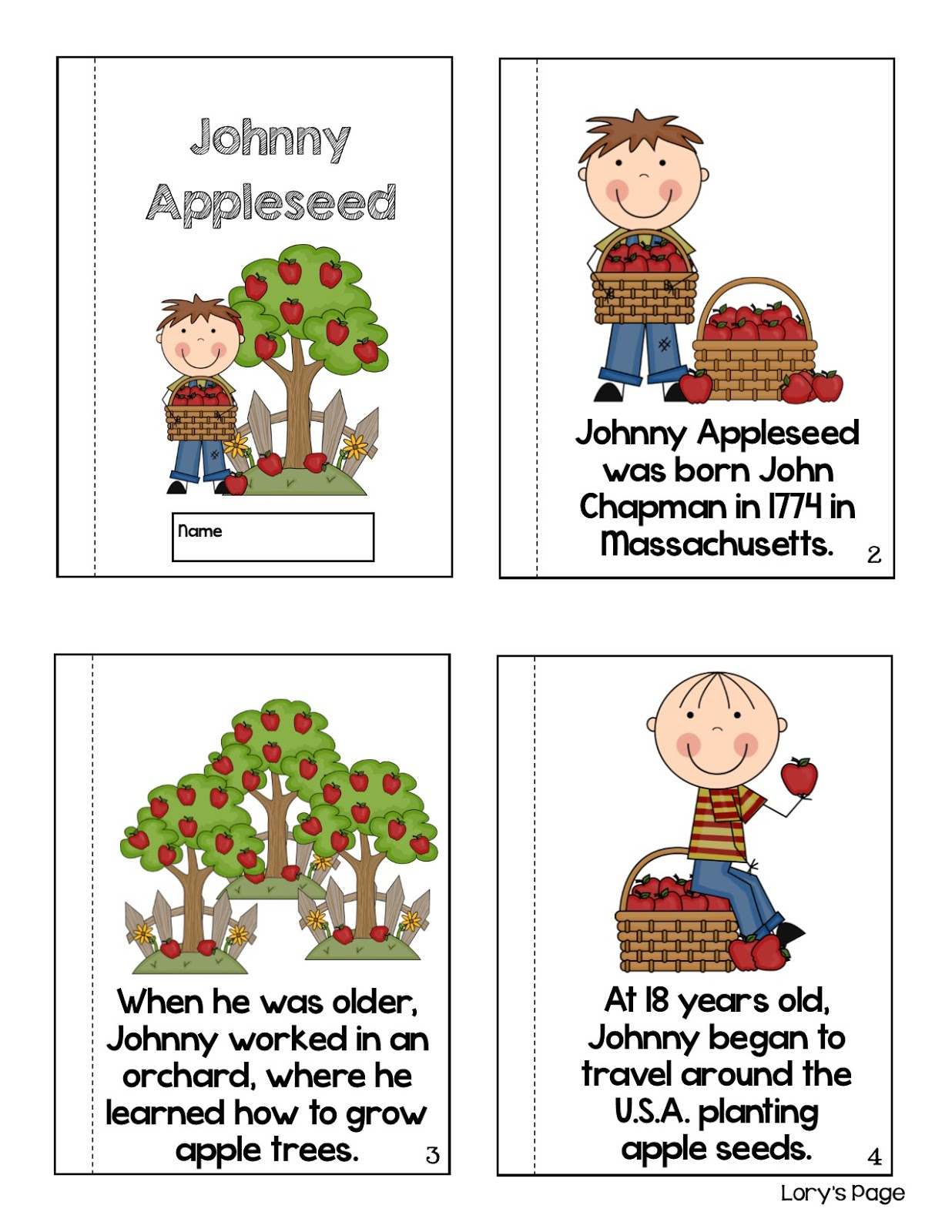 Lory S 2nd Grade Skills Johnny Appleseed Day