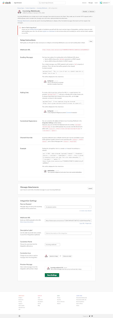 Slack Webhook URL