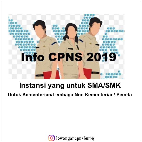 Daftar Formasi Dan Persyaratan Penerimaan Cpns Tahun 2019 Untuk