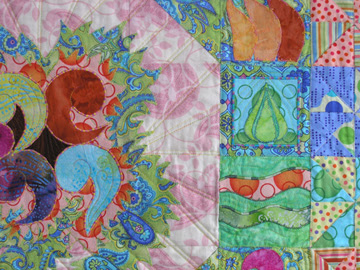 Nesting Wall quilt detail photo