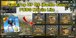 Cara Top UP BC (Battle Coin) PUBG Mobile Lite