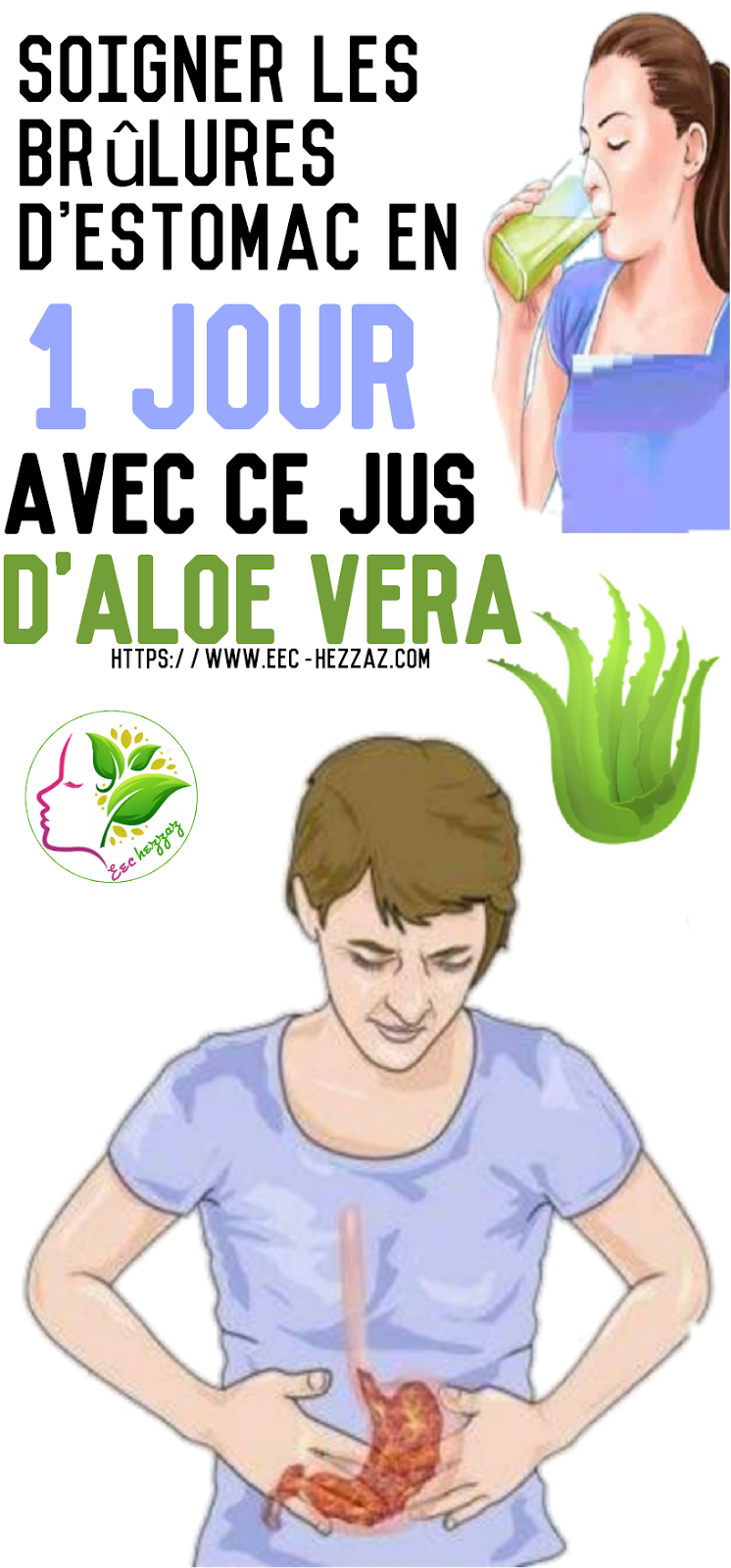 Soigner les brûlures d'estomac en 1 jour avec ce jus d'Aloe Vera
