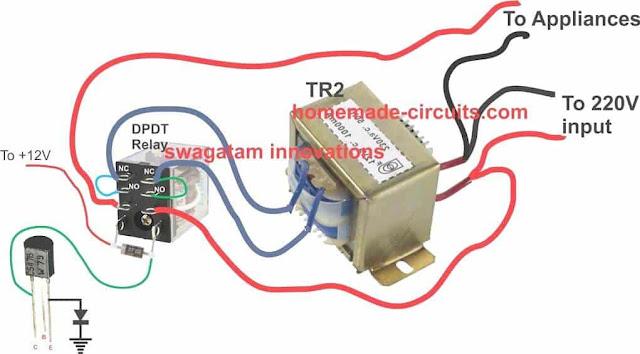 voltage stabilizer relay transformer wiring details