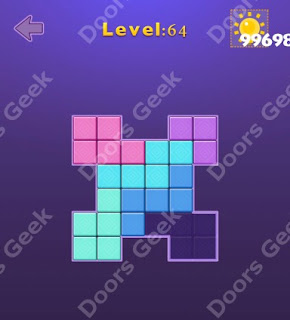 Cheats, Solutions, Walkthrough for Move Blocks Easy Level 64