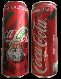 Coca Cola #jakmikolaj poczuj magie świąt puszka z Mikołajem