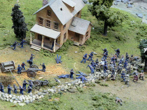 model railroad Civil War battle at Northlandz