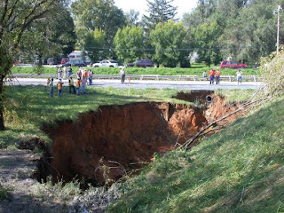 Water erodes rock foundations and can produce sinkholes. Christians need to be aware of compromise that ruins foundations in our lives and organizations.